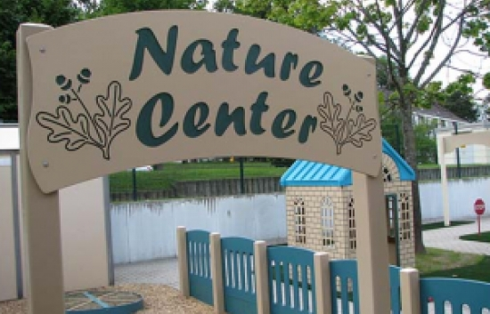 nature center sign for nature playground
