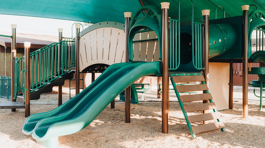 play structure slide